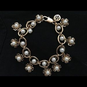 Tory Burch Pearl Flower Cluster bracelet
